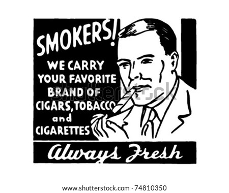 Smokers - Retro Ad Art Banner