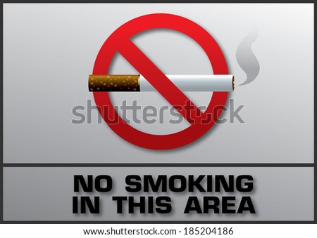 Smoking area labels - stock vector