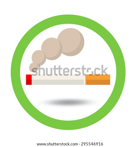 smoking area sign  - stock vector