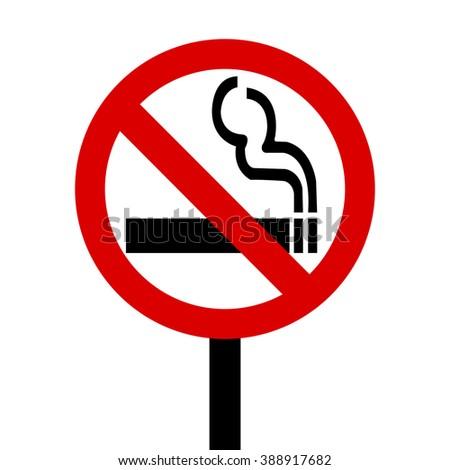 Smoking Bans Sign - stock vector