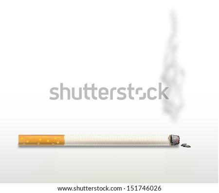 Smoking cigarette .  - stock vector