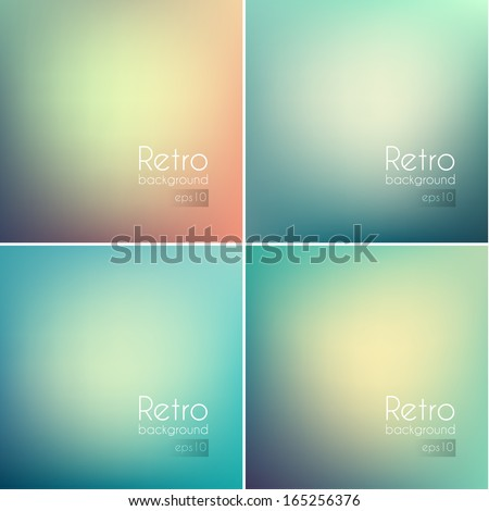 Smooth colorful backgrounds collection with aged effect - eps10 - stock vector