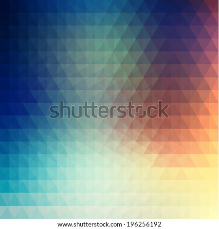 Smooth colorful geometric background - eps10 vector - stock vector