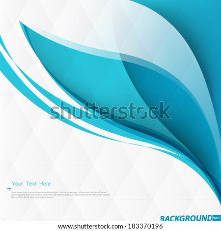 Smooth Curve Lines Background - stock vector