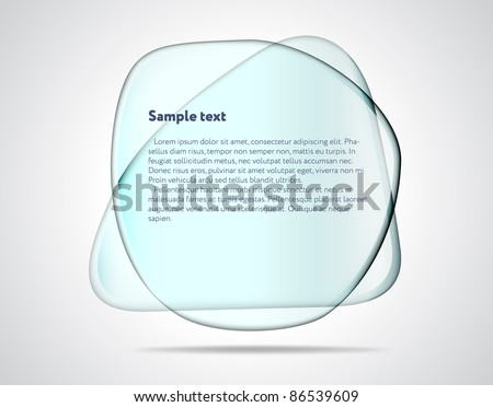 Smooth glass plates - stock vector