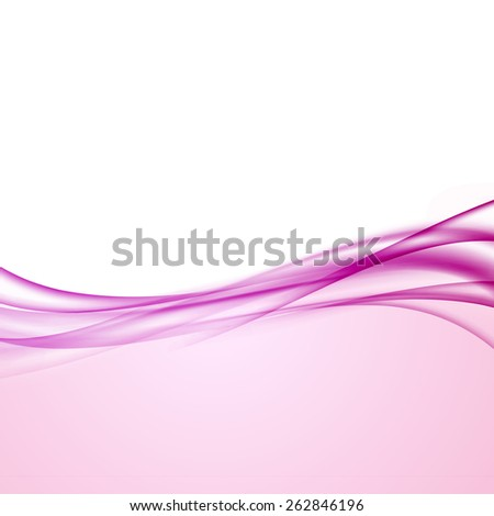 Smooth modern layout with soft swoosh line border. Vector illustration - stock vector