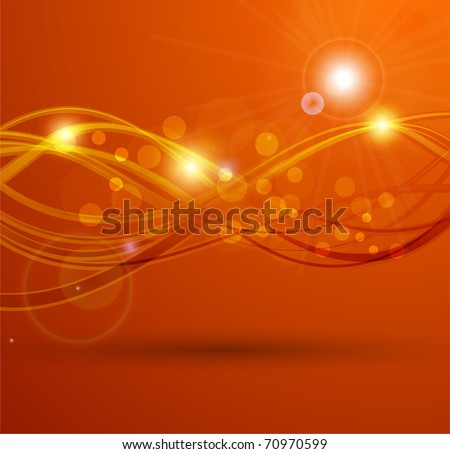 Smooth Waves | Orange Design Template for Masculine Designs | EPS10 Vector Background - stock vector
