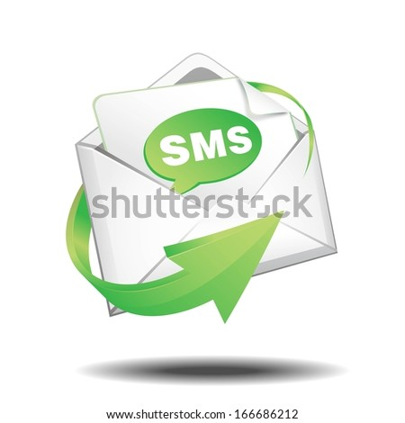SMS mail - stock vector