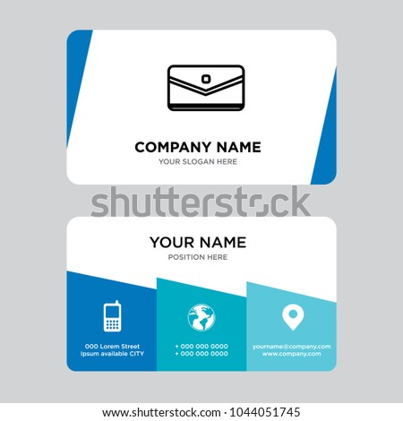 Sms message business card design template stock vector 1044051745 sms message business card design template visiting for your company modern creative and clean colourmoves