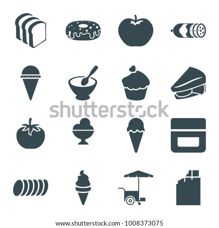 snack icons set 16 editable filled stock vector royalty free 1008373075 shutterstock