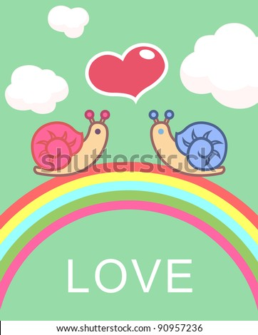 snail - stock vector