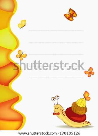 snail diploma illustration on white background