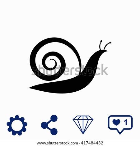 Snail icon. - stock vector