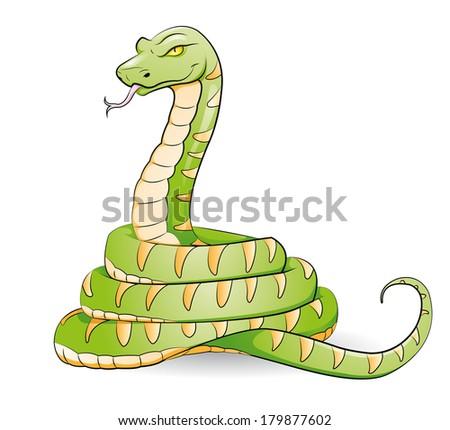 snake - stock vector