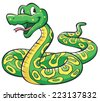 Snake Cartoon - stock vector