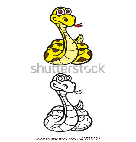 snake for kids coloring exercises - Coloring Exercises