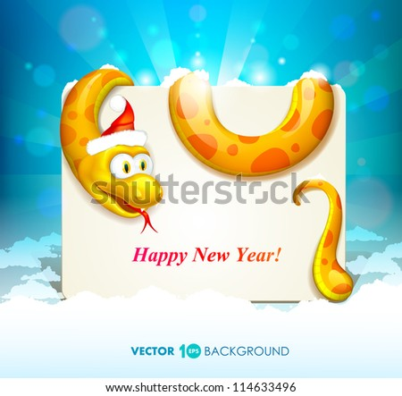 Snake. Happy new year 2013. Vector eps 10. - stock vector