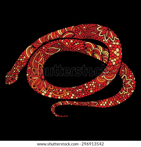 Snake illustration- Chinese zodiac