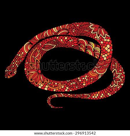 Snake illustration- Chinese zodiac - stock vector