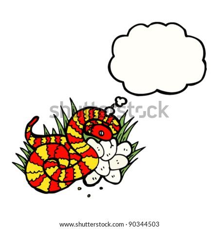 snake nest cartoon - stock vector