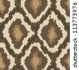 Snake skin brown and beige natural seamless pattern - stock