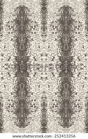 Snake skin pattern in vector - stock vector