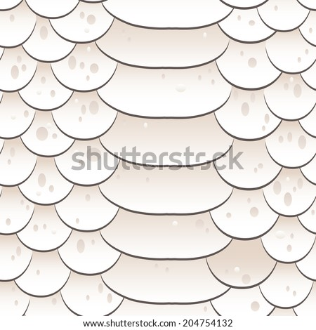 Snake skin texture. Seamless pattern white background. Vector - stock vector