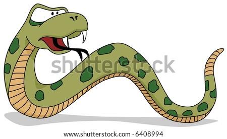 Snake-vector - stock vector