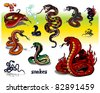 Snakes - stock vector