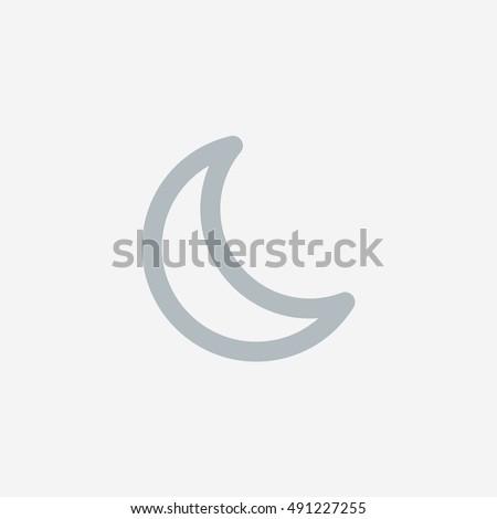 Snapchat Moon Light Icon Vector Social Stock Vector 491227255