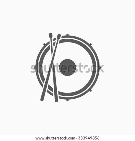 snare drum icon - stock vector