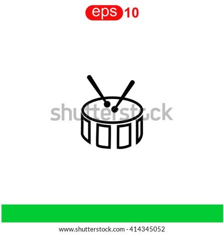 Snare Drum icon. - stock vector