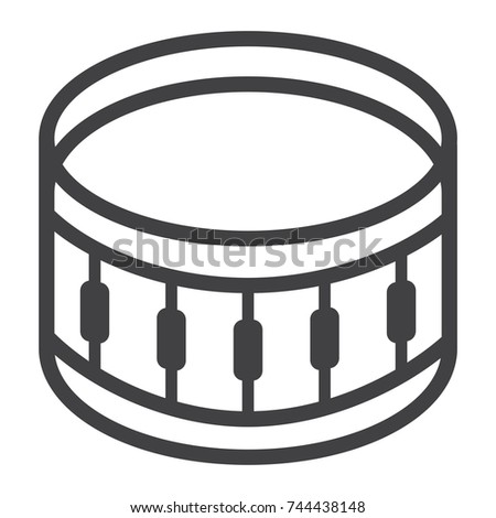 Snare Drum Line Icon Music And Instrument Beat Sign Vector Graphics A Linear