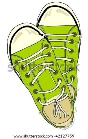 sneakers - stock vector
