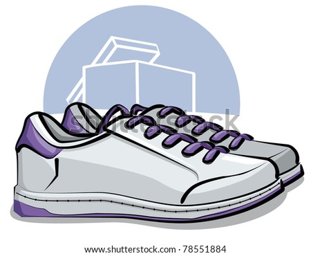 sneakers - stock vector