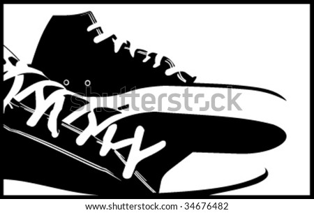 sneakers abstract vector  illustrations - stock vector