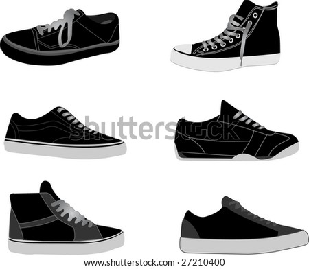 sneakers illustrations - stock vector