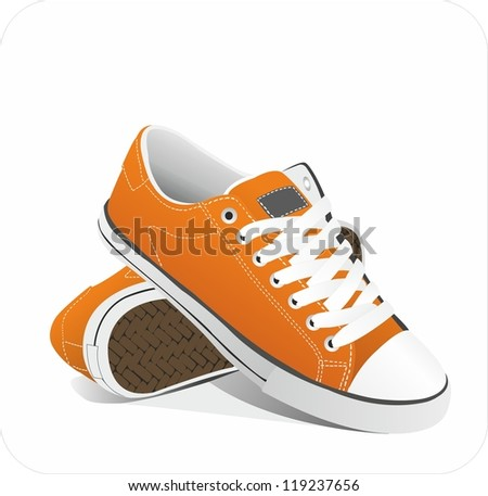 Sneakers. vector - stock vector
