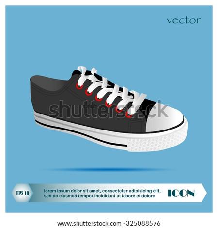 Sneakers vector - stock vector