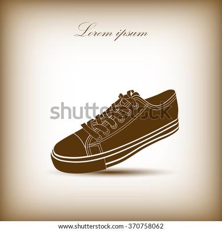 Sneakers , vector - stock vector