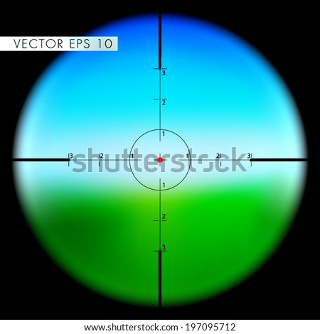 Sniper's scope sight view  - stock vector