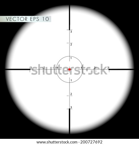 Sniper's scope sight view - vector eps 10 - stock vector