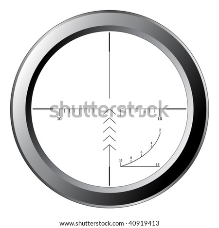 Sniper scope isolated on white - vector - stock vector