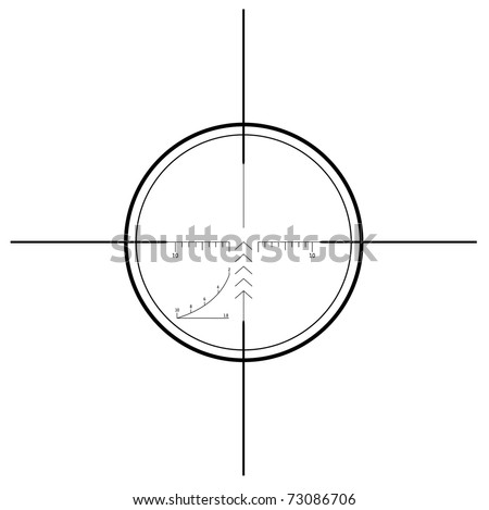 Sniper scope - isolated on white (vector) - stock vector