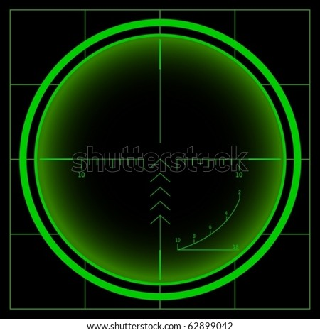 Sniper scope. Night vision. Vector - stock vector
