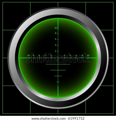 Sniper sight (vector) - stock vector