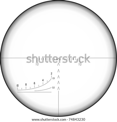sniper sight, vector illustration - stock vector