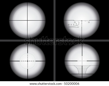 Sniper sight view - stock vector