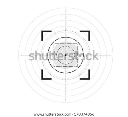 Sniper target scope or sight, isolated on target,eps10. - stock vector