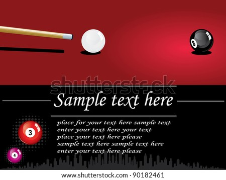 Snooker design - stock vector